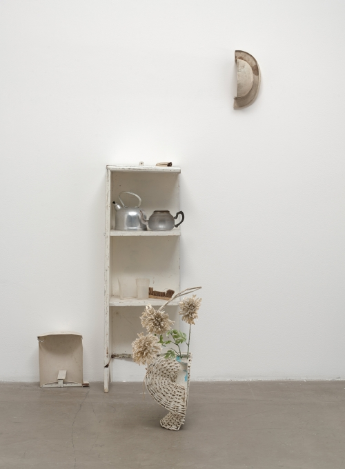 Yoko Ono. Half-A-Room (detail), 1967. Various objects cut in half, most painted white. Installation dimensions variable. Private collection. © Yoko Ono 2014.