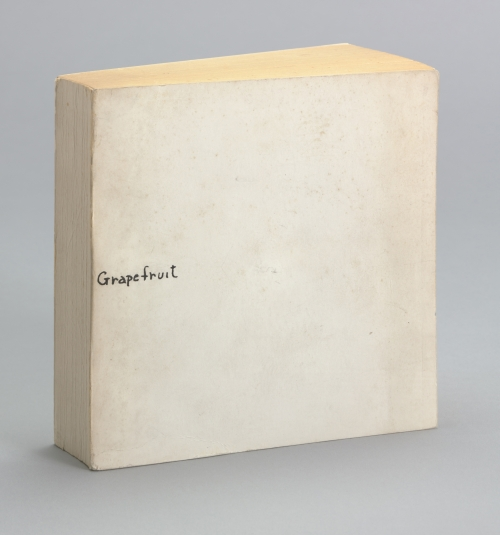 Yoko Ono. Grapefruit, 1964. Artist's book, offset, 5 7/16 x 5 7/16 x 1 1/4 in (13.8 x 13.8 x 3.2 cm) (overall, closed). Publisher: Wunternaum Press (the artist), Tokyo. Edition: 500. The Museum of Modern Art, New York. The Gilbert and Lila Silverman Fluxus Collection Gift, 2008. © Yoko Ono 2014.