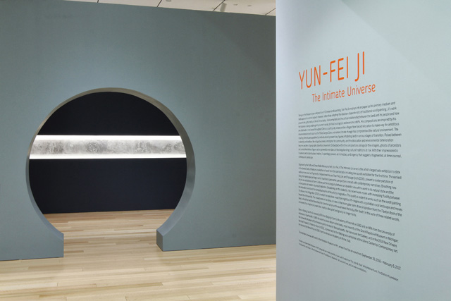 Yun-Fei Ji: The Intimate Universe. Exhibition view. Photograph: © John Bentham.