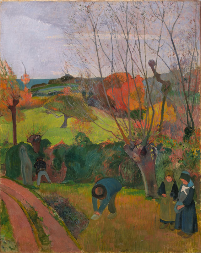 Paul Gauguin. The Willow Tree, 1889. Oil on canvas, 36 1/4 x 28 7/8 in. Gift of Henry W. and Marion H. Bloch, 2015.