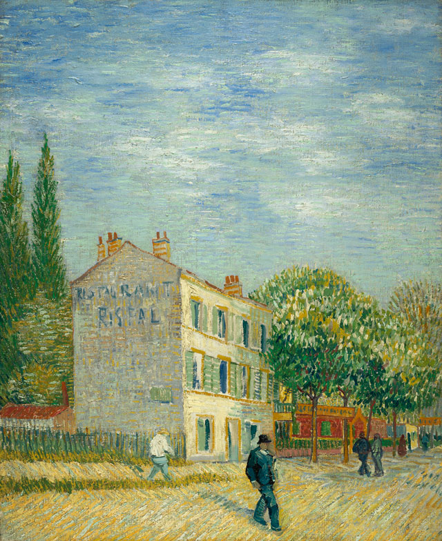 Vincent van Gogh. Restaurant Rispal at Asnières, 1887. Oil on canvas, 28 7/8 x 23 5/8 in. Gift of Henry W. and Marion H. Bloch, 2015.