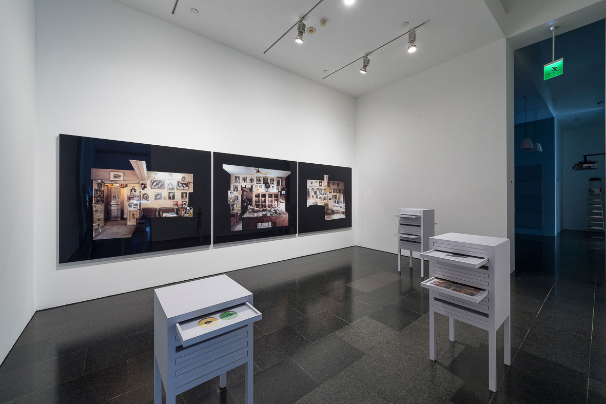 Akram Zaatari. Against photography. An annotated history of the Arab Image Foundation, 2017. Exhibition view. Photograph: Miquel Coll.