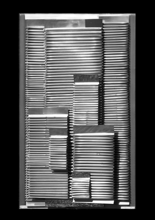 Heinz Mack. New York, New York, 1963. Aluminium on wood, 160 x 100 x 20 cm. Private collection. © Heinz Mack. Photograph: Heinz Mack.