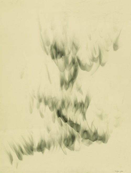 Jef Verheyen. Untitled, 1961. Soot on paper, 70 x 53.5 cm. Private collection, Brussels. © Jef Verheyen. Photograph: Herman Huys, courtesy Galerij De Vuyst.