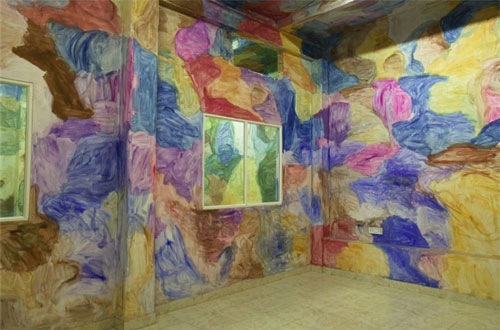 Shanghai-based artist Zhang Enli (b1965) has been commissioned to transform the ICA theatre with a painting that will cover the floor and walls.