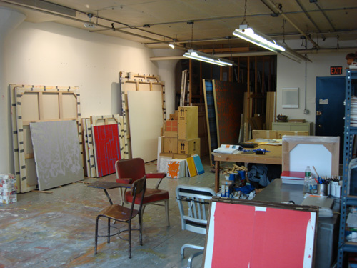 John Zinsser's studio. Courtesy the artist.
