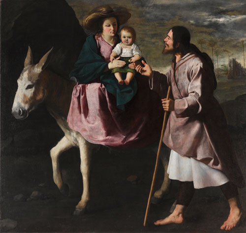 Francisco de Zurbarán. The Flight into Egypt, ca 1630-1635. Oil on canvas, 150 x 159 cm. Seattle, Seattle Art Museum, fractional gift from the Collection Barney A. Ebsworth.
