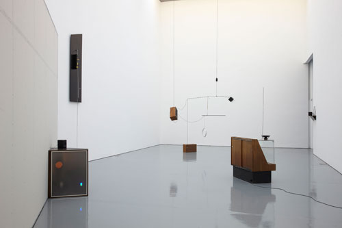 Haroon Mirza. Installation view, Spike Island (Jan–Mar 2012), Untitled Song featuring Untitled Works by James Clarkson, 2012 (detail). Courtesy the artist and Spike Island. Photograph: Stuart Whipps.