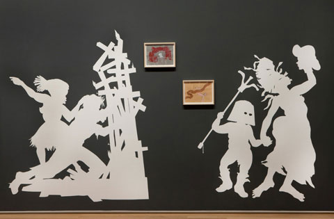 Kara Walker. Rise Up Ye Mighty Race!, 2013. View of debut installation at the Art Institute of Chicago.