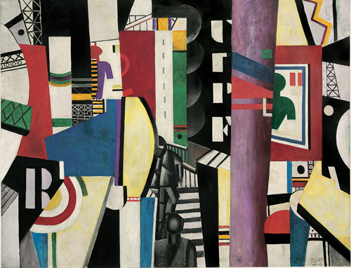 Fernand Léger. The City, 1919. Oil on canvas, 231.1 x 298.4 cm. Philadelphia Museum of Art, A. E. Gallatin Collection, 1952, 